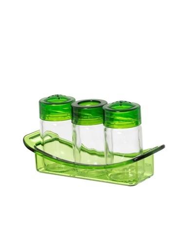 Herevin Tuzluk Biberlik Kürdanlık Seti Yeşil Yeşil